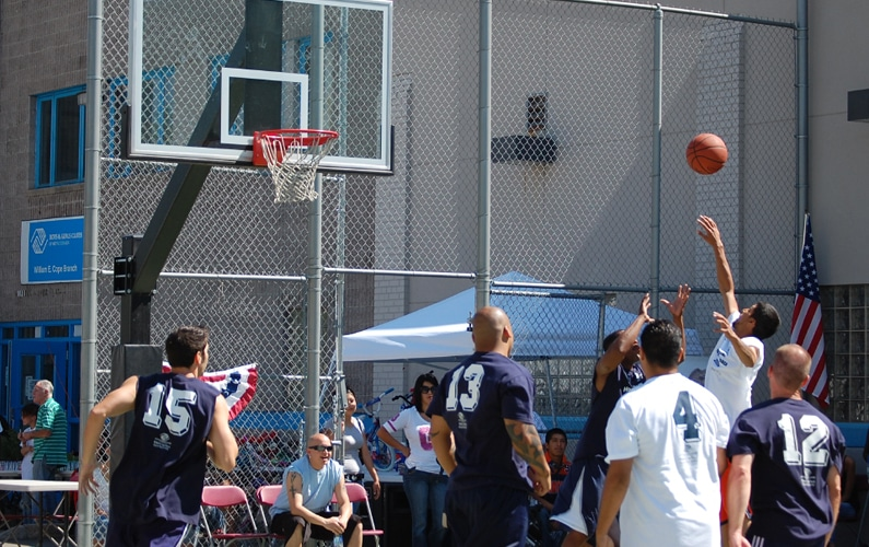 Basketball game brings together Denver police and youth