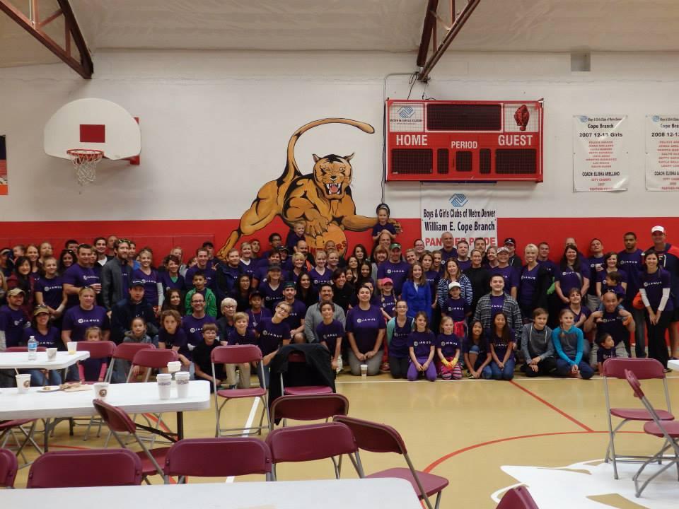 Janus employees volunteer at Cope Boys & Girls Club