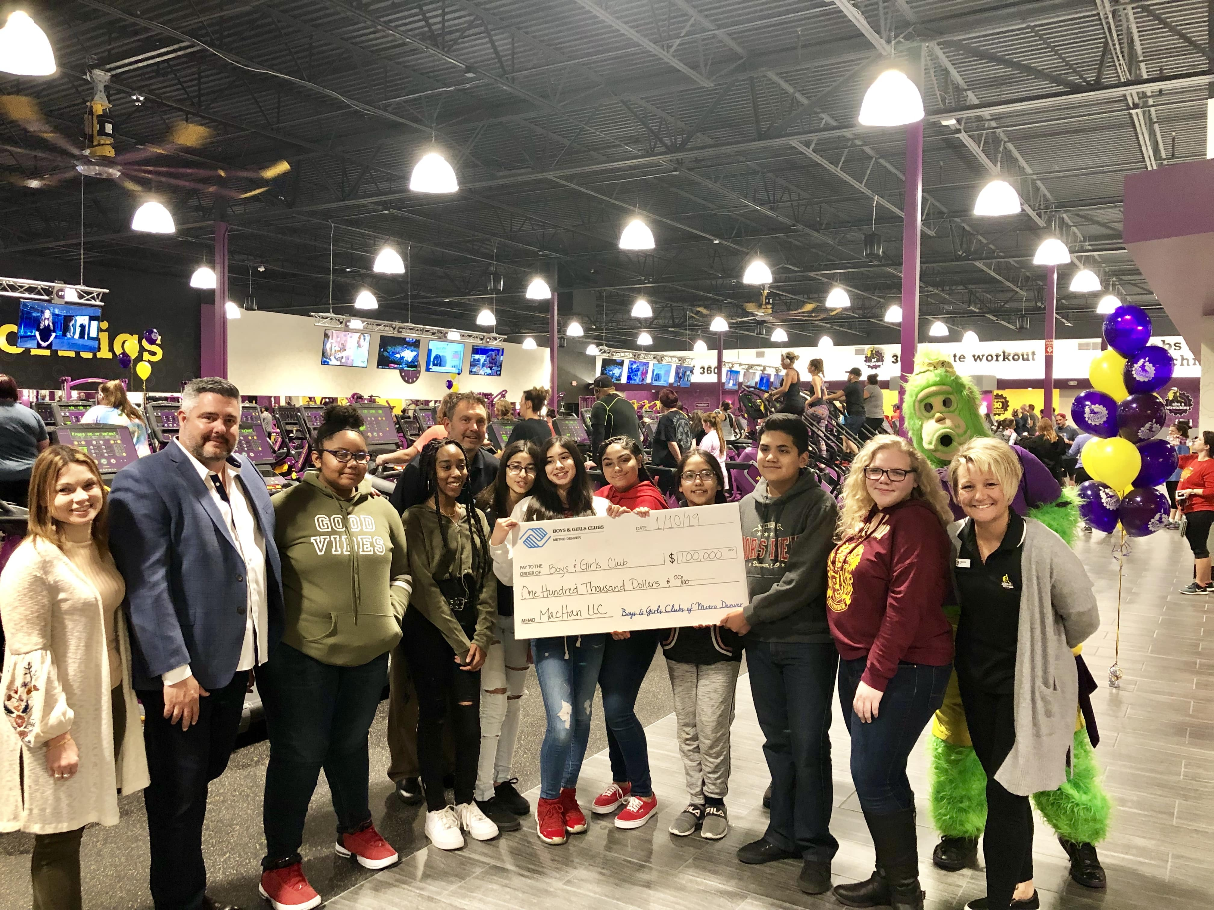 Planet Fitness welcomes Boys & Girls Club kids to their new Brighton gym and makes a generous donation of $100,000 to our programming.