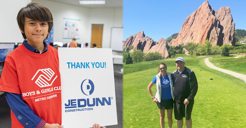 JE Dunn Construction tees up to raise money for our Clubs!